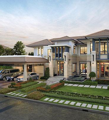 แบบบ้านสวย แบบบ้านสไตล์โมเดิร์น JARDINE แบบบ้านครอบครัวใหญ่ แบบบ้านเพื่อผู้สูงอายุ