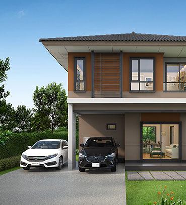 แบบบ้านสวย แบบบ้านสไตล์โมเดิร์น Ochre เรือนหอ แบบบ้านครอบครัวเล็ก